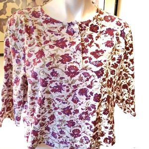 Appleseed's Floral Print XL Cotton Top